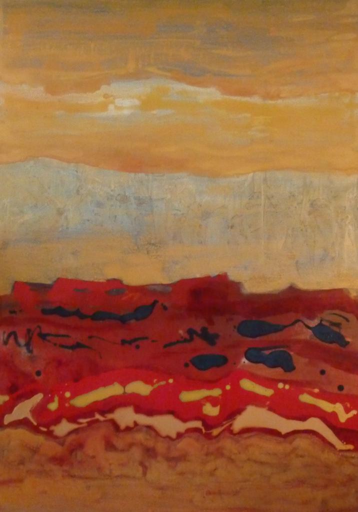 désert rouge, 40x30 pces $1850.00 vendu