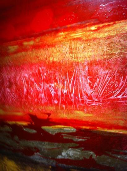 desert rouge 48x34pces/122x86cm $1850.00 vendu